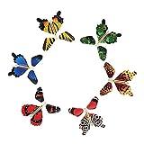 Rinhoo 3-100magische, fliegende Schmetterlings-Spielzeuge, mit Gummiband angetriebenes Kindergeschenk