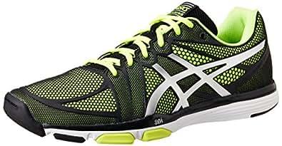 ASICS Men's Gel-Exert Tr Black, Silver and Flash Yellow Mesh Multisport Training Shoes - 13 UK