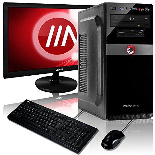 "Memory PC Komplett-PC AMD A8-9600 4x 3.4 GHz Quadcore, MSI, 8 GB DDR4, 1000 GB Sata3 , AMD Radeon R7 2GB, MSI 22"" Monitor VS228NE, MSI U2000 Set Tastatur und Maus, Windows 10 Pro 64bit, Komplettsystem, PC Komplettpaket, Komplett Set"