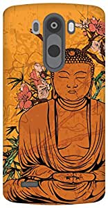 The Racoon Grip peaceful buddha hard plastic printed back case / cover for LG G3