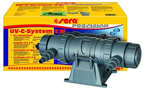 sera 08253 UV-C-System 5W ein Hochleistungs-UV-C-Wasserklärer gegen grünes Wasser, gegen Algen und gegen Krankheitserreger - ganz ohme Chemie -