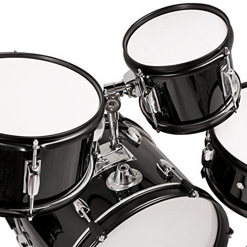 Mecor Black Full Size 5 Piece Complete Adult Drum Set Cymbals with Stand,Hi-Hat,Drum Stool,Drum Sticks¨22¡°-5 PiecesBlack Full Size 5 Piece Complete Adult Drum Set Cymbals with Stand,Hi-Hat,Drum Stool,Drum Sticks¨22¡°-5 Pieces