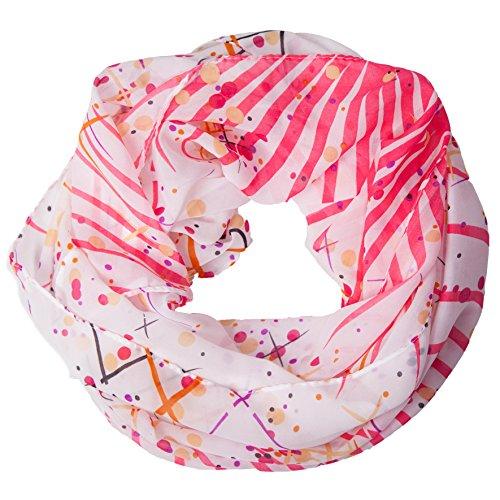 MANUMAR Loop-Schal für Damen | Hals-Tuch in bunt mit Kunst Motiv als perfektes Herbst Winter Accessoire | Schlauchschal | Damen-Schal | Rundschal | Geschenkidee für Frauen und Mädchen