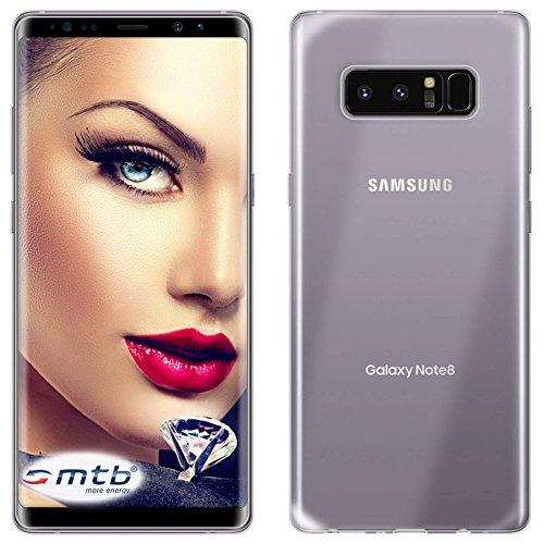 mtb more energy Custodia Clear & Slim per Samsung Galaxy Note 8 (6.3') | trasparente | flessibile | sottile | TPU Silicone Case Cover