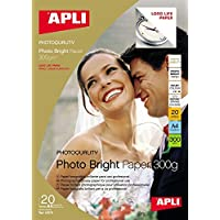 Papel Fotografico Photo Bright Din A4 Larga Duracion 300gr 20 Hojas