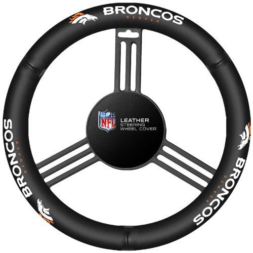 Fremont Die NFL Lenkradhülle, Leder, schwarz, Einheitsgröße
