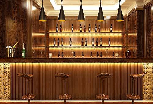 MMPTn Fotohintergrund, 17,8 x 1,52 m, für Alkohol, Weinflaschen, Speisereien, Cafés, Getränke, Urban Club, Innenraum, Moderne Taverne, Fotografie, Hintergrund aus Vinyl, Fotostudio-Requisiten -