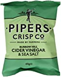 Pipers Crisps Burrow Hill Cider Vinegar and Sea Salt (Pack of 24)