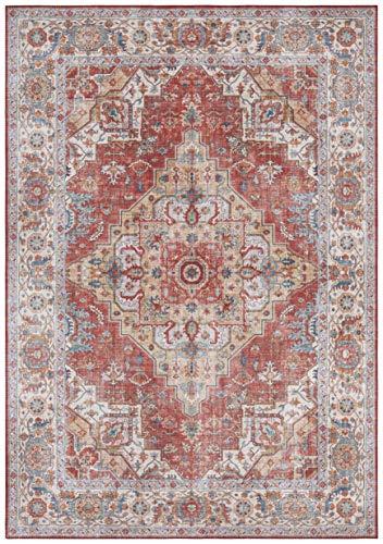 Nouristan Orientalischer Vintage Teppich Sylla Ziegelrot, 160x230 cm