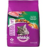 Whiskas Adult (+1 year) Dry Cat Food, Tuna Flavour, 3kg Pack