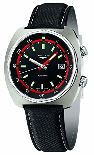 Longines Heritage Diver Automatic Steel Mens Strap Watch Calendar L2.795.4.52.0