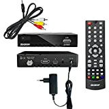Edision Proton Full HD Satelliten-Receiver FTA HDTV DVB-S2 (HDMI, AV, USB 2.0) Astra 19,2 vorpr. inkl. Cinch Kabel Adapter