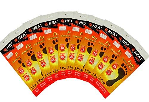 Bada Bing 10er Set Heat Feet Wärmesohlen wärmende Sohlen warme Einlegesohlen Wintersportarten, Outdoorsport, Weihnachtsmarkt