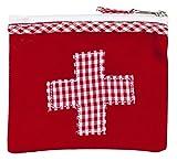 """""""Mini-farmacia"""" – bolsa roja de medicinas de algodón con la aplicación de parche de cruz de Vichy a cuadros de la marca alemana Ringelsuse"""