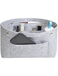 NOTAG Felt Handbag Organizer Women's Purse Organizer Insert and Liner Travel Storage Cosmetic Pockets Bag in Bag Cosmetic pouch Diaper Bag Organizer, 2 Sizes, 8 colors