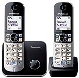 Panasonic KX-TG6812JTB sans fil DECT Twin, Noir / Blanc