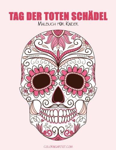 Malbuch für Kinder Tag der toten Schädel 1