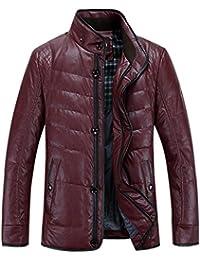Queenshiny Short Men's PU Down Coat Jacket/Thicken and lighter