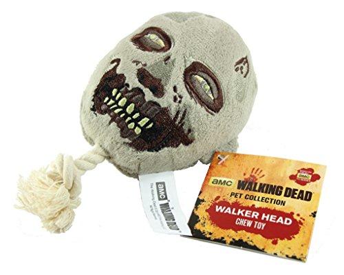 Lootcrate AMC Hunde-Spielzeug, Kopf eines Walkers / Beißers aus The Walking Dead, Kauspielzeug mit Quietsch-Effekt
