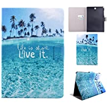Galaxy Tab A 9,7 T550 Tablet Funda, Asnlove Carcasa Flip Carcasas PU Cuero Cover Stand Funda Carcasas para Samsung Galaxy Tab A 9.7 SM-T550 Diseño Live it