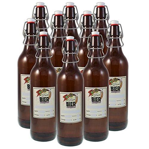Dein BIER selbstgebraut 1 Literflaschen, 10er Set »Dein Bier«