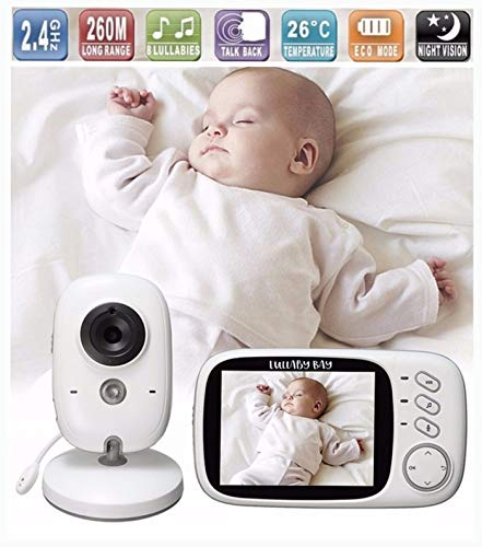 d0e3531dca9eb Lullaby Bay Video Baby Monitor with Camera. Anti-Hack Encryption. Wireless  Digital 3.2
