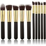 WANGSAURA® 10Pcs Professional Cosmetic Makeup Tool Kit Brush Set Face Powder Eye shadow Eyeliner Blusher