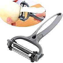 Net Solutions - Utensile da cucina 4 in 1, pelapatate, sbucciatore, per tagliare a julienne, ottimo come mandolina, rigalimoni, grattugia formaggio, per destrorsi e mancini, lame in acciaio inox