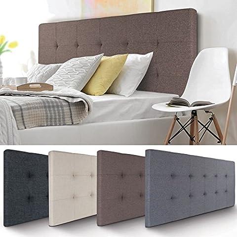 IDMarket - Tête de lit capitonnée en tissu 160x58 cm taupe