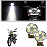 #5: Vheelocityin 6 Led Small Circle Motorcycle Light Bike Fog Lamp Light - 2 Pc For Hero Motocorp Impulse