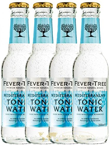 fever tree mediterranean tonic Fever Tree Mediterranean Tonic Water 4 x 0,2 Liter