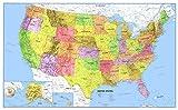 Swiftmaps Póster de mapa de pared 3D de los océanos azules de Premier de los Estados Unidos, 24 x 36 cm, edición de papel enrollado