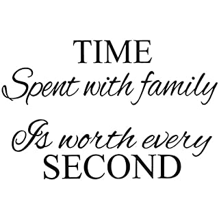 Wall Sticker - TOOGOO(R)Time Spent With Family Wall Art Sticker Living Room Decor Mural Decal