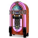 Auna Graceland XXL Jukebox Vintage • Tocadiscos • Reproductor de Vinilos • Rockola Discos • MP3, CD, AUX, FM