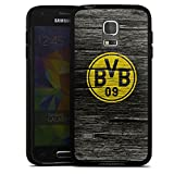 DeinDesign Samsung Galaxy S5 mini Silikon Hülle Case Schutzhülle Borussia Dortmund BVB Holzoptik