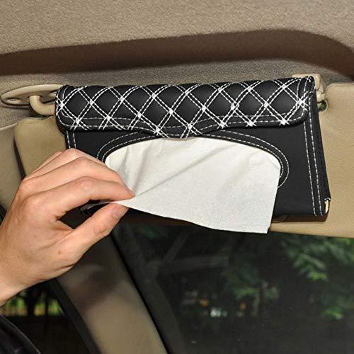 Preisvergleich Produktbild FashLady Auto Visier Tissue Box Autozubehör Zwischenablage Tissue-Boxen Serviettenhalter Autoteile: Rot