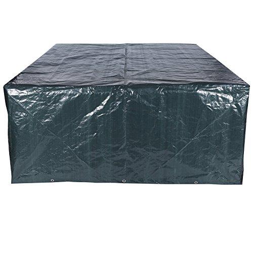 Songmics Schutzhülle Abdeckung für Gartenmöbel 200 x 160 x 70 cm Rechteckig Tisch GFC91L