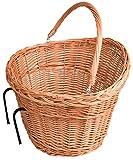 Fahrradkorb Einkaufskorb aus 100% natürlicher Weide Weidenkorb (02)