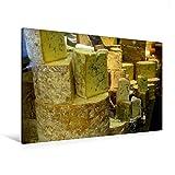 Premium Textil-Leinwand 120 cm x 80 cm quer, Blauschimmelkäse | Wandbild, Bild auf Keilrahmen, Fertigbild auf echter Leinwand, Leinwanddruck: Alles Käse (CALVENDO Lifestyle)