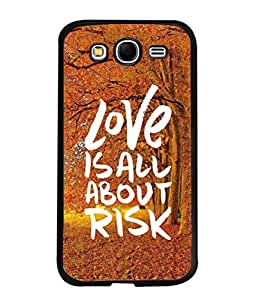PrintVisa Designer Back Case Cover for Samsung Galaxy Grand Neo I9060 :: Samsung Galaxy Grand Lite (Safe Forward Danger Play With Fire Expose Compromise Beautiful Adventure)