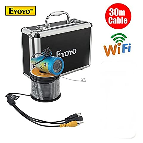 Eyoyo 30M 2.4G WIFI Wireless Fish Finder Fishing white LED Underwater HD Camera APP Support Android and IOS systems