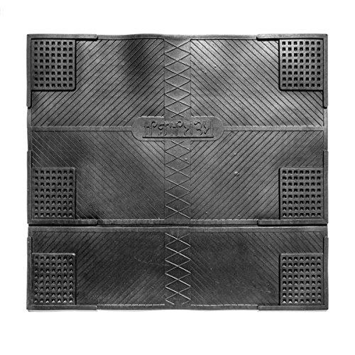 FabaHome Premium Antivibrationsmatte für Waschmaschinen, Trockner, Lautsprecher, Gummimatte, schwarz, 62 x 55 cm, Dämm-Matte