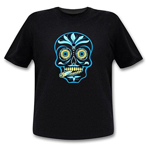 Ucult - Mexikanisches Totenkopf T-Shirt Sugar Skull - Sugar Candy Totenkopf Kostüm