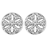 Myzevar 14K White Gold and Diamond Mariko Stud Earrings best price on Amazon @ Rs. 26913