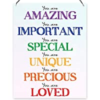 Dorothy Spring You Are Amazing Lovely Rainbow Inspirational Wall Quote Plaque Metal Sign Size 15x20cm