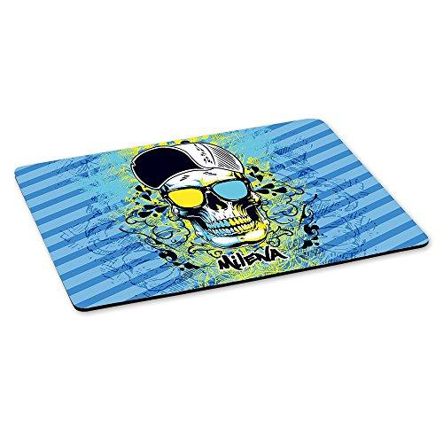Gaming-Mousepad mit Namen Milena und schönem Skull-Motiv für Mädchen - Gamer-Mousepad | Mausmatte | Mauspad