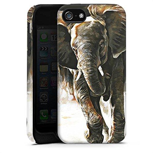Apple iPhone 4 Housse Étui Silicone Coque Protection Éléphant Nature Dessin Cas Tough terne