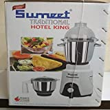 Sumeet Traditional Hotel King 1250W Mixer Grinder, 40x23x33cm(White and Black, 523329)