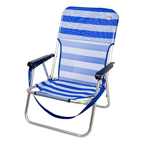 Aktive 53950 Silla Plegable Fija Aluminio Beach, 40 x 56 x 70...