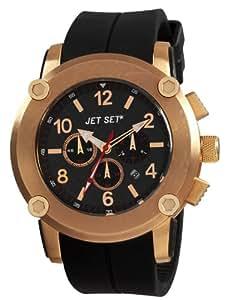 Jet Set - J2873R-267 - Beirut - Montre Homme - Quartz Chronographe - Cadran Noir - Bracelet Caoutchouc Noir